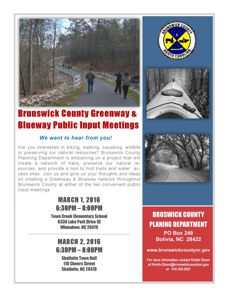 Greenway and Blueway Public Input Meeting - March 1 and 2