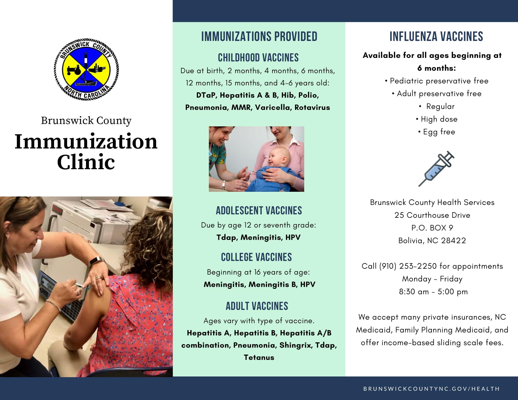 Immunizations Brunswick County Government