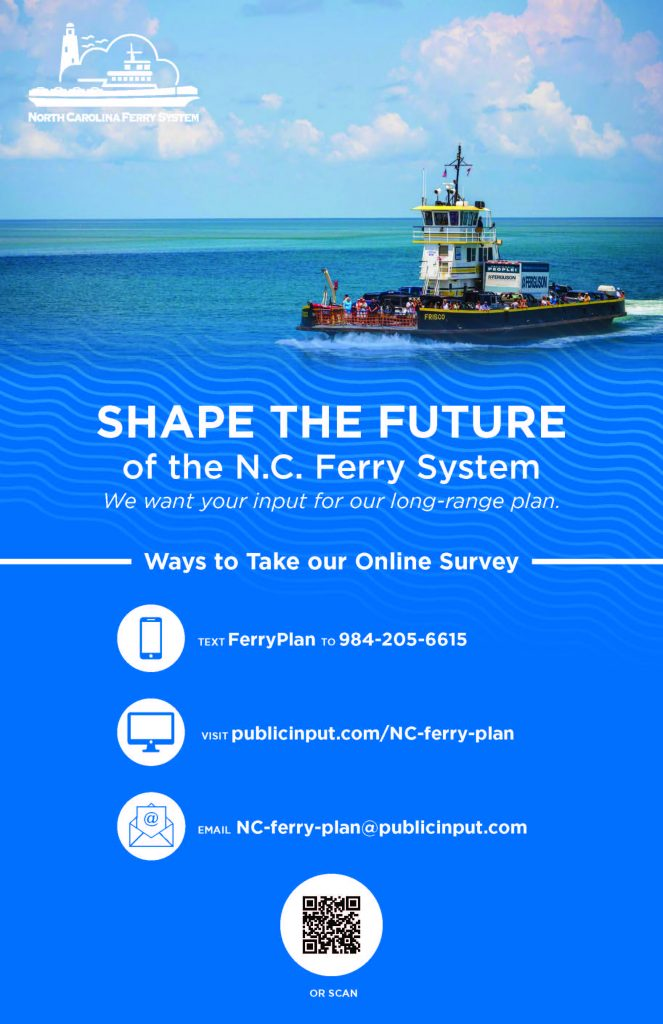 Photos of NC Ferry System Shape the Future Survey Poster